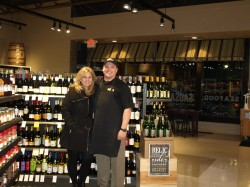 Owner Mark Wilson and Dorina Rudd in the newly renovated market.